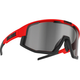 Bliz Fusion M12 Brille, shiny red/smoke with silver mirror